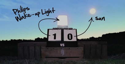 Philips Wake-up Light-lysterapi vs. solen